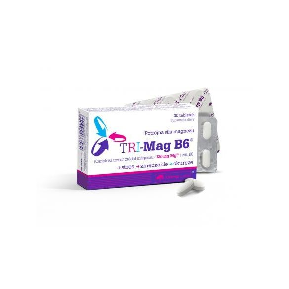 Olimp Labs® TRI-Mag B6™, a magnézium hároszoros ereje! 3 magnéziumsót egyesítő magnéziumpótló készítmény