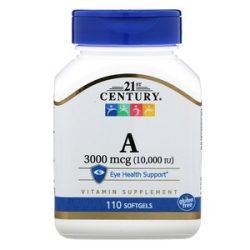 A vitamin 3000mcg ( 10.000 IU )110 db softgels  21 CENTURY