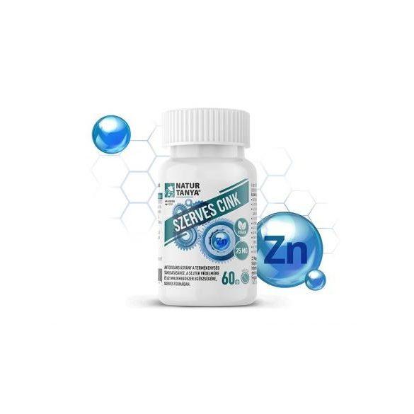 Natur Tanya® Szerves Cink – 25 mg-os vegán tabletta