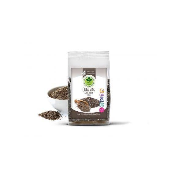 Dr. Natur étkek, Prémium Chia mag (Fekete Salvia hispanica, Azték zsálya). Tápanyagbomba! Ételsűrítésére is! 100g