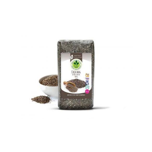Dr. Natur étkek, Prémium Chia mag (Fekete Salvia hispanica, Azték zsálya). Tápanyagbomba! Ételsűrítésére is! 500g