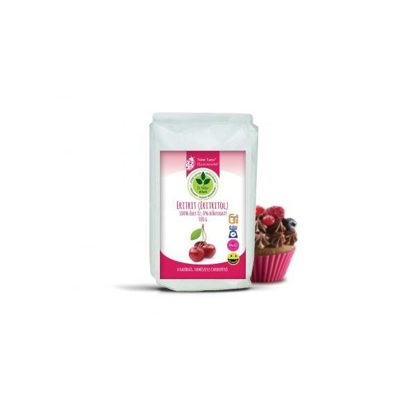 Dr. Natur étkek, Eritrit (Eritritol). 100% édes íz, 0% bűntudat! 0 kalóriás, természetes cukorpótló. 500g