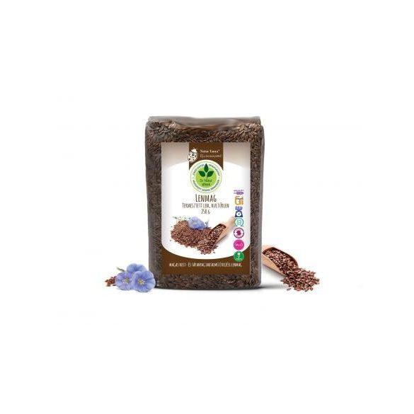 Dr. Natur étkek, Lenmag (Barna kultúrlen). Zsírsavakban és rostban bővelkedő, emésztést elősegítő mag. 250g