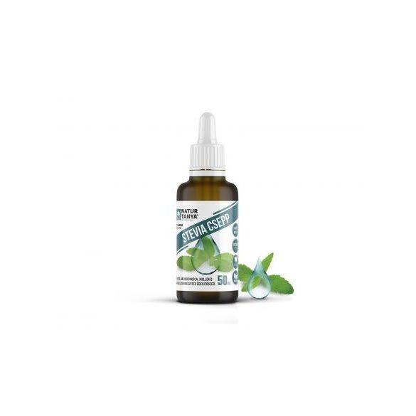 Dr. Natur étkek, Stevia csepp (Édesfű, Jázminpakóca) Mellékíz-mentes, természetes édesítőszer 50 ml