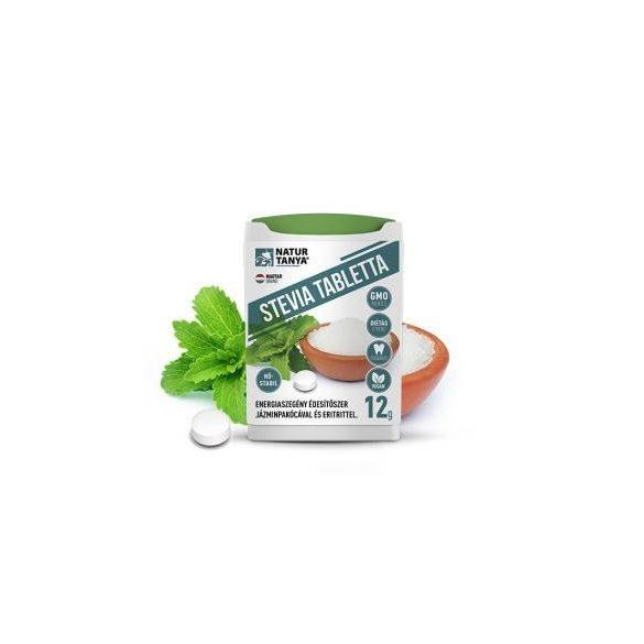 Dr. Natur étkek, Stevia tabletta (Édesfű, Jázminpakóca) Mellékíz-mentes, természetes édesítőszer 200 db