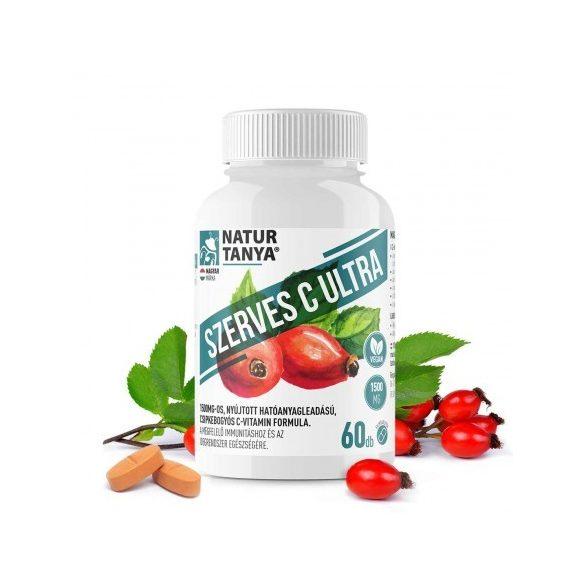 Natur Tanya® SZERVES C ULTRA 1500 mg Retard C-vitamin, csipkebogyó kivonattal
