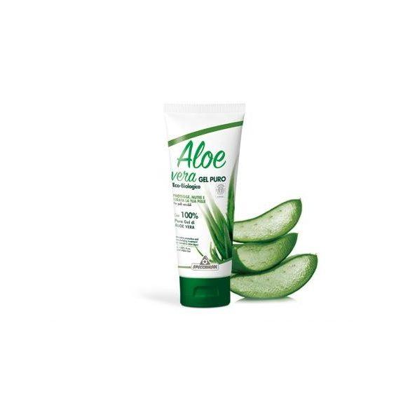 Aloe vera elsősegély gél - Natur, minden bőrtípus számára. ECOBIO minősítésű 100%-os, külsőleg. 200 ml