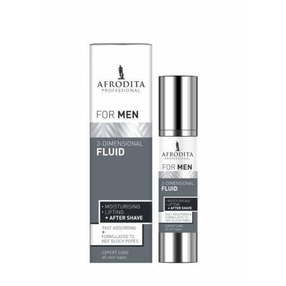 Men Professional 3 - dimenziós Fluid borotválkozás után