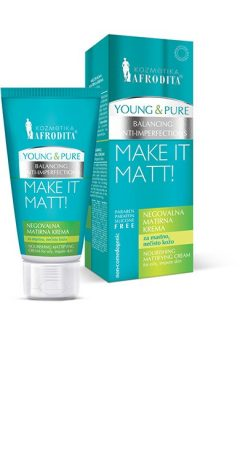 Young and Pure ápoló krém 50 ml /zsíros bőrre matt effect/