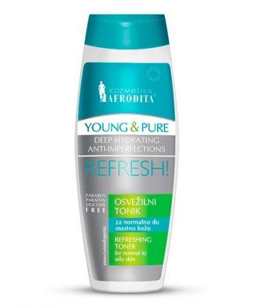 Young and Pure frissítő tonik 200 ml/ normál és zsíros bőrre/