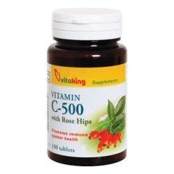 500mg C-vitamin csipkebogyóval 100db