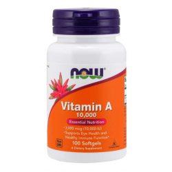 A vitamin 10,000 IU 100 db softgels NOW