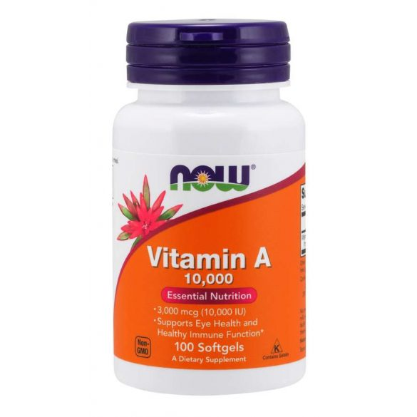 A vitamin 10,000 IU 100 db softgels NOW