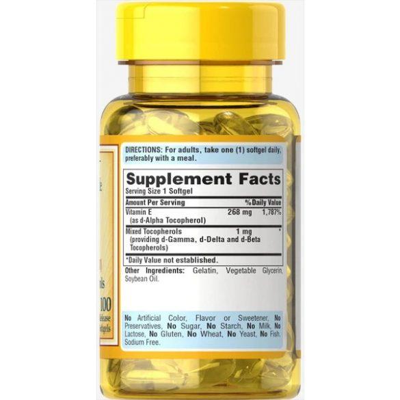 E vitamin Mixed tocopherols  400 NE 100 db
