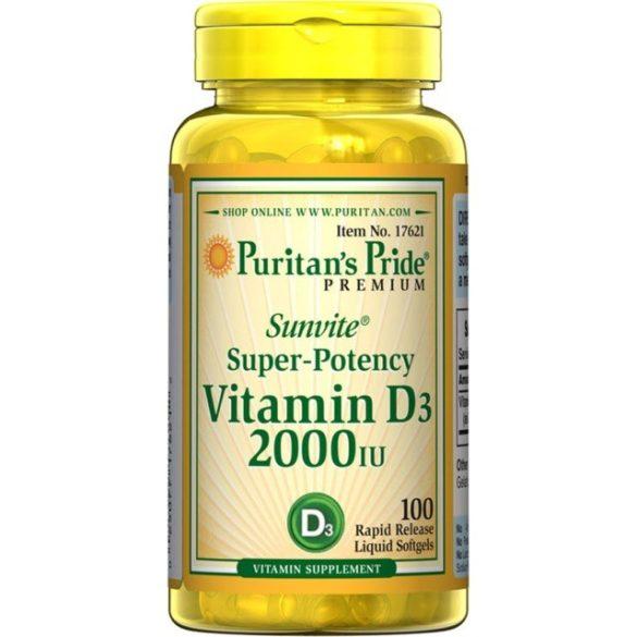 Vitamin D3 2000 iu 200 db softgél