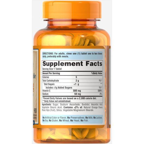 C vitamin 500 mg  90db rágó tableta