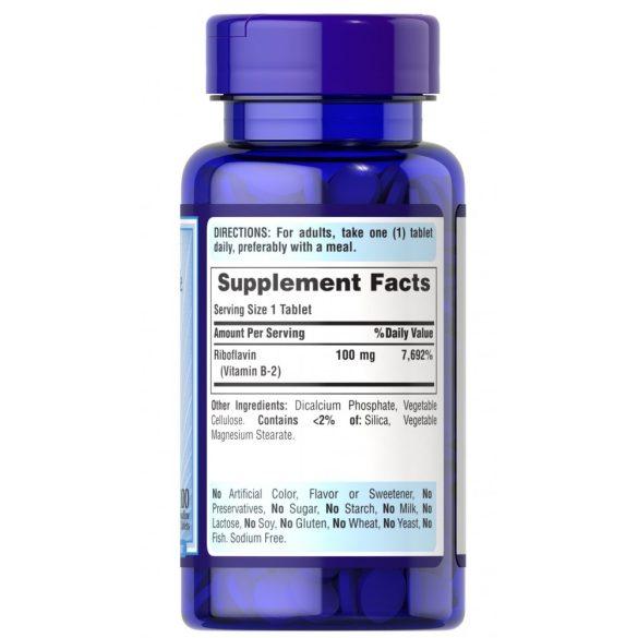 B-2 Vitamin 100 mg 100 db tabletta